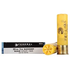 "Federal Power-Shok 20 Gage 3"" Length 18 Pellets 5 Rounds"