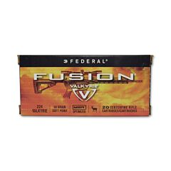 Federal Fusion MSK 224 Valkyrie 90 Grain Spitzer Boat Tail 20 Rounds