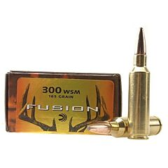 Federal Fusion 300 Win Short Magnum 165 Grain Bonded Spitzer Boat Tail 20 Rounds