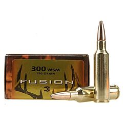 Federal Fusion 300 Win Short Magnum 150 Grain Bonded Spitzer Boat Tail 20 Rounds