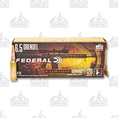 Federal Fusion MSR 6.5 Grendel 120 Grain Bonded Spitzer Boat Tail 20 Rounds