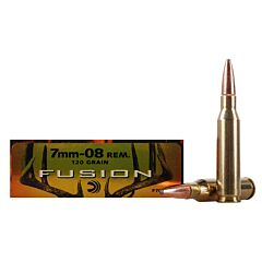 Federal Fusion 7mm-08 Remington 120 Grain Bonded Spitzer Boat Tail 20 Rounds
