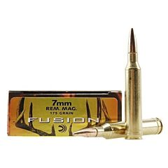 Federal Fusion 7mm Remington Magnum 175 Grain Jacketed Soft Point 20 Rounds
