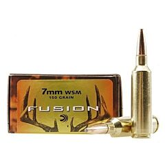 Federal Fusion 7mm Win Short Magnum 150 Grain Bonded Spritzer Boat Tail 20 Rounds