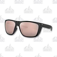 Costa Matte Black Sunglasses Copper Silver Mirror