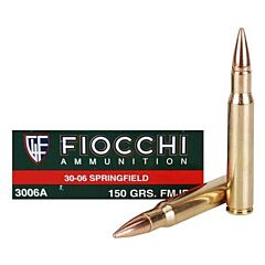 Fiocchi Shooting Dynamics 30-06 Springfield 150 Grain Full Metal Jacket 20 Rounds