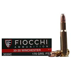 Fiocchi Shooting Dynamics 30-30 Winchester 170 Grain Pointed Soft Point 20 Rounds