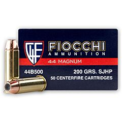 Fiocchi Shooting Dynamics 44 Remington Magnum 200 Grain Semi Jacketed Hollow Point 50 Rounds