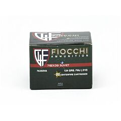 Fiocchi Shooting Dynamics 7.62X39mm 123 Grain Full Metal Jacket 20 Rounds