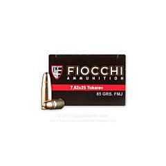Fiocchi Classic Loads 7.62x25mm 85 Grain Full Metal Jacket 50 Rounds