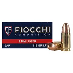 Fiocchi Shooting Dynamics 9mm 115 Grain Full Metal Jacket 1000 Rounds