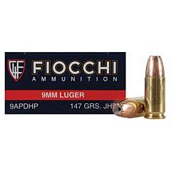 Fiocchi Shooting Dynamics 9mm Luger 115 Grain Jacketed Hollow Point 50 Rounds