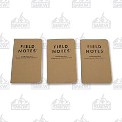 Field Notes Set of 3 Plain Paper Memo Books