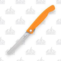 Victorinox Swiss Classic Foldable Paring Serrated Orange