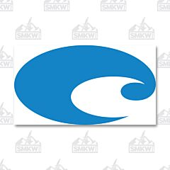 Costa Reflective Logo Decal Blue