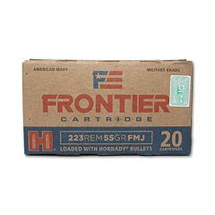 Hornady Frontier Cartridge 223 Remington 55 Grain Hornady Full Metal Jacket 20 Rounds