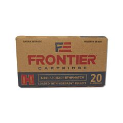 Hornady Frontier Cartridge 5.56x45mm NATO 62 Grain Jacketed Hollow Point 20 Rounds