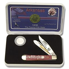 Frost Cutlery Arkansas State Quarter & Trapper Collector Set