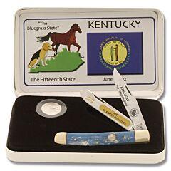 Frost Cutlery Kentucky Quarter & Trapper Gift Set
