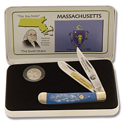 Frost Cutlery Massachusetts State Quarter & Trapper Collector Set