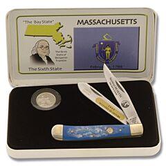 Frost Cutlery Massachusetts Quarter & Trapper Gift Set