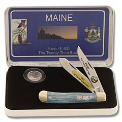 Frost Cutlery Maine State Quarter & Trapper Collector Set