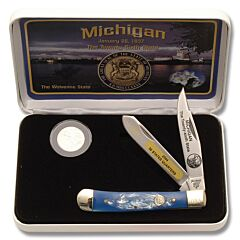 Frost Cutlery Michigan State Quarter & Trapper Collector Set