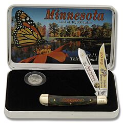 Frost Cutlery Minnesota State Quarter & Trapper Collector Set