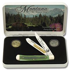 Frost Cutlery Montana State Quarter & Trapper Collector Set
