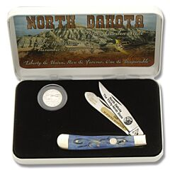 Frost Cutlery North Dakota State Quarter & Trapper Collector Set