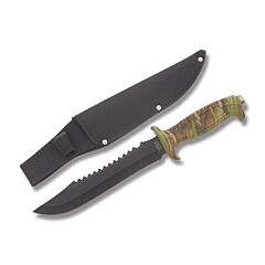 Frost Jungle Fever Bowie VI Stainless Steel Blade Camo ABS Plastic Handle