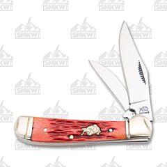 Frost Bulldog Brand Dark Red Jigged Bone Locking Copperhead