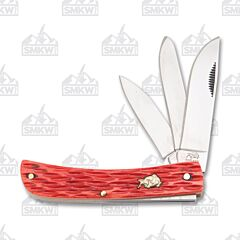 Bulldog Brand Red Jigged Bone Utility Knife