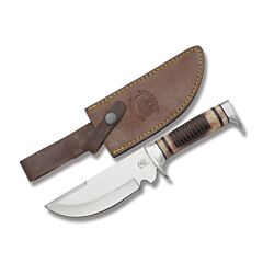 Frost Cutlery Crowing Rooster Rhode Island Red Bowie Stainless Steel Blade Sawcut Wood Handle