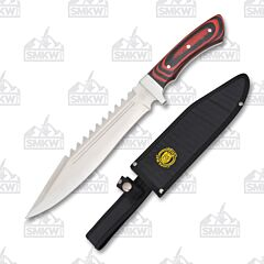 Frost Cutlery Chipaway Black & Red Pakkawood Medium Bowie