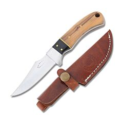 Frost Cutlery Chipaway Cutlery Chickasaw Skinner Stainless Steel Blade Buffalo Horn/Olive Wood Handle