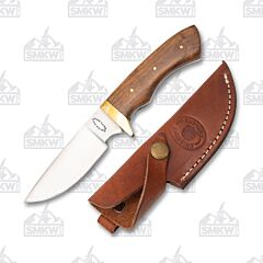 Frost Cutlery Chipaway Dark Olive Wood Chickasaw Skinner