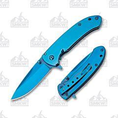 Frost Blue Titanium Linerlock