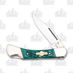 Frost Cutlery German Bull Green Pickbone Lockback