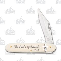 Frost Cutlery Psalm 23 Words of Faith Novelty Knife Stainless Steel Blade Composition Handle