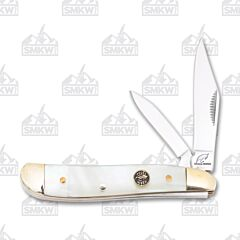 Frost Cutlery Ocoee River Resin Coated Mother of Pearl Peanut