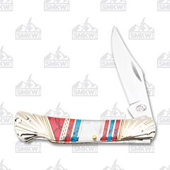 Frost Cutlery Silverhorse Stoneworks Mother of Pearl Lockback