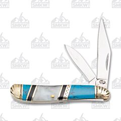 Frost Cutlery Silverhorse Stoneworks Mother of Pearl & Turquoise Resin Peanut