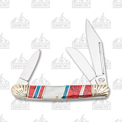 Frost Cutlery Silverhorse Stoneworks Mother of Pearl Stockman