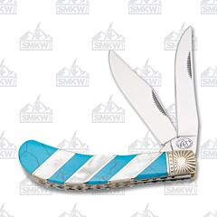 Frost Cutlery Silverhorse Stoneworks Turquoise & Pearl Saddlehorn