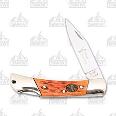 Frost Cutlery Steel Warrior Orange Jigged Bone Lockback