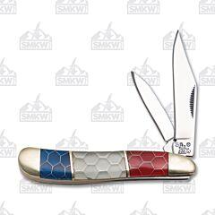 Frost Cutlery Steel Warrior Red White & Blue Peanut