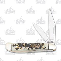 Frost Cutlery Steel Warrior Stag Bone Resin Peanut