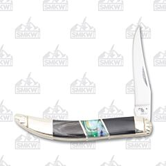 Frost Cutlery Steel Warrior Buffalo Horn and Resin Coated Abalone Small Toothpick