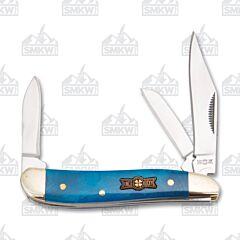 Frost Cutlery Uncle Lucky Blue Smooth Bone Swayback